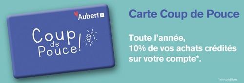 bons plans Aubert, carte coup de pouce